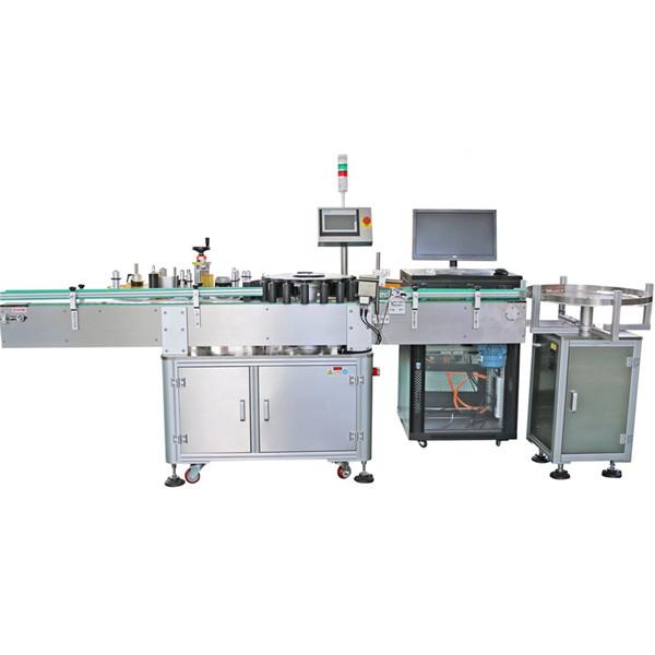Máquina rotativa rotativa de rotulagem automática para garrafas cônicas personalizadas