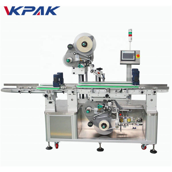 Máquina automática de rotulagem de adesivos de dupla face superior e inferior
