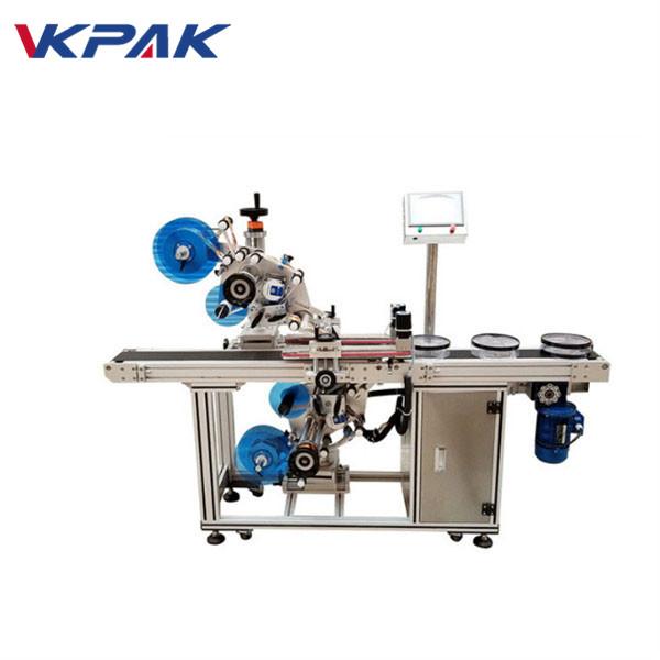 Máquina automática de colagem de etiqueta adesiva superior e inferior